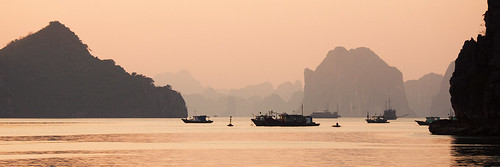 Ha Long Bay Silhouetted - Vietnam