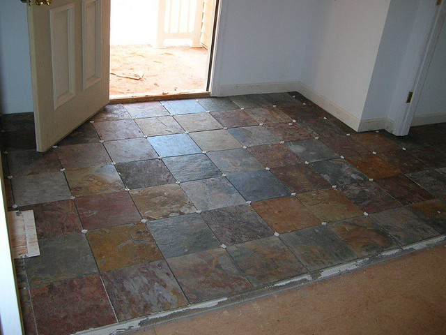 Slate Foyer This Is A Nice Shot Of The Slate Tile We Put