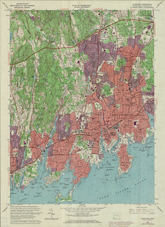 Stamford Quadrangle 1971 - USGS Topographic Map 1:24,000 | by uconnlibrariesmagic