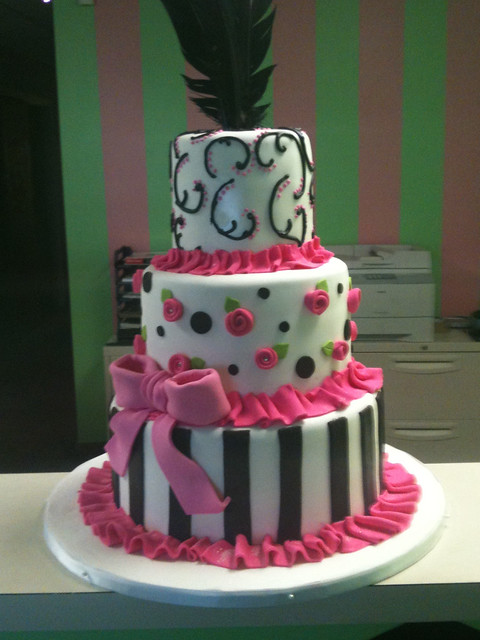 pink and black baby shower cake explore sweet icing bakesh