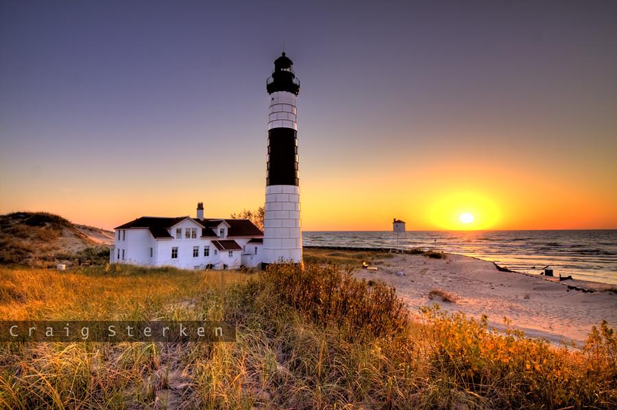 Sunset At Big Sable Point Lighthouse My Website Craig