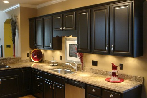 Painted Black Cabinets Kitchen