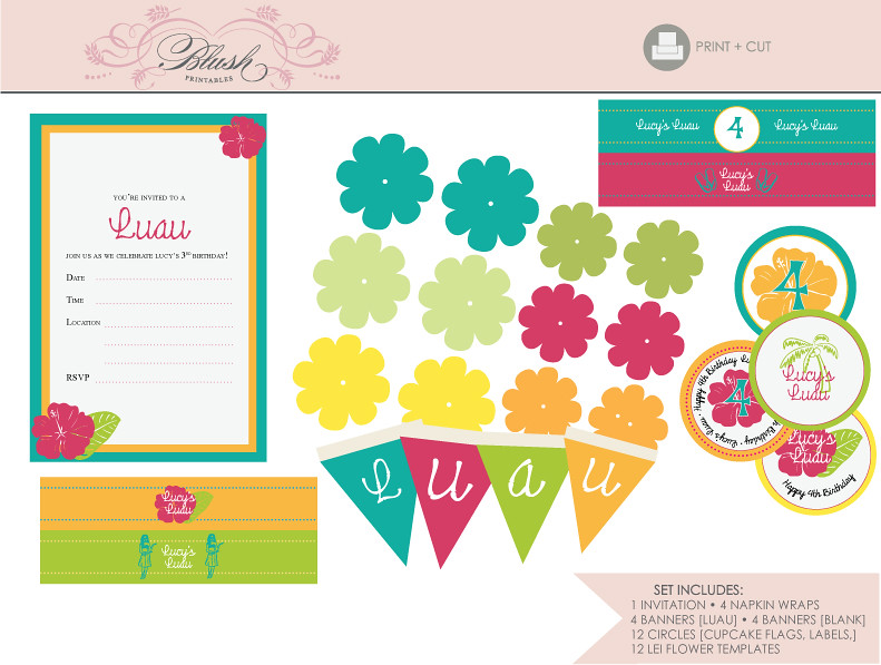 Tropical Themed Party Ideas Free Printables: The Suite Comes With An Invitation