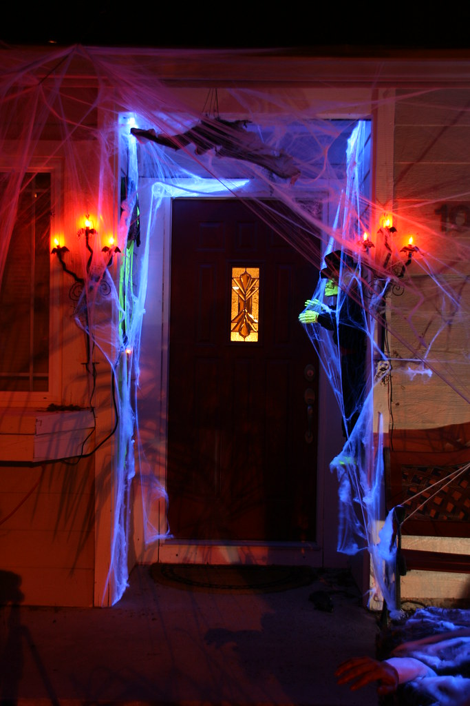 Spooky entrance to our house our halloween display flickr for 13 door haunted house