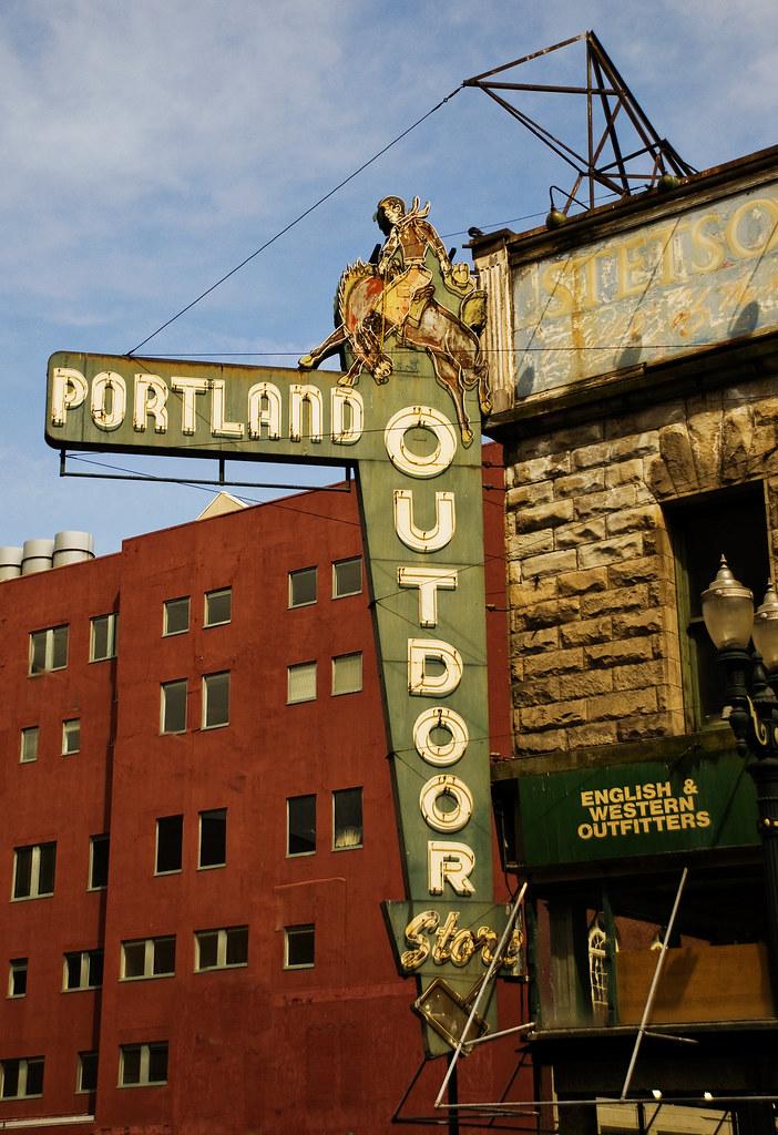 portland outdoor store sign edward lovato flickr. Black Bedroom Furniture Sets. Home Design Ideas