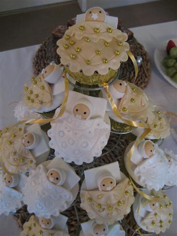 white and gold baby shower cupcakes honey cakes flickr