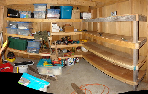 Shed Shelves Pano Flickr Photo Sharing