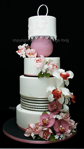 Orchids Wedding Cake | by Paige Fong