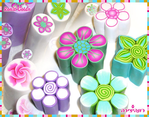 Millefiori Flower Canes - in process | by Ronit golan