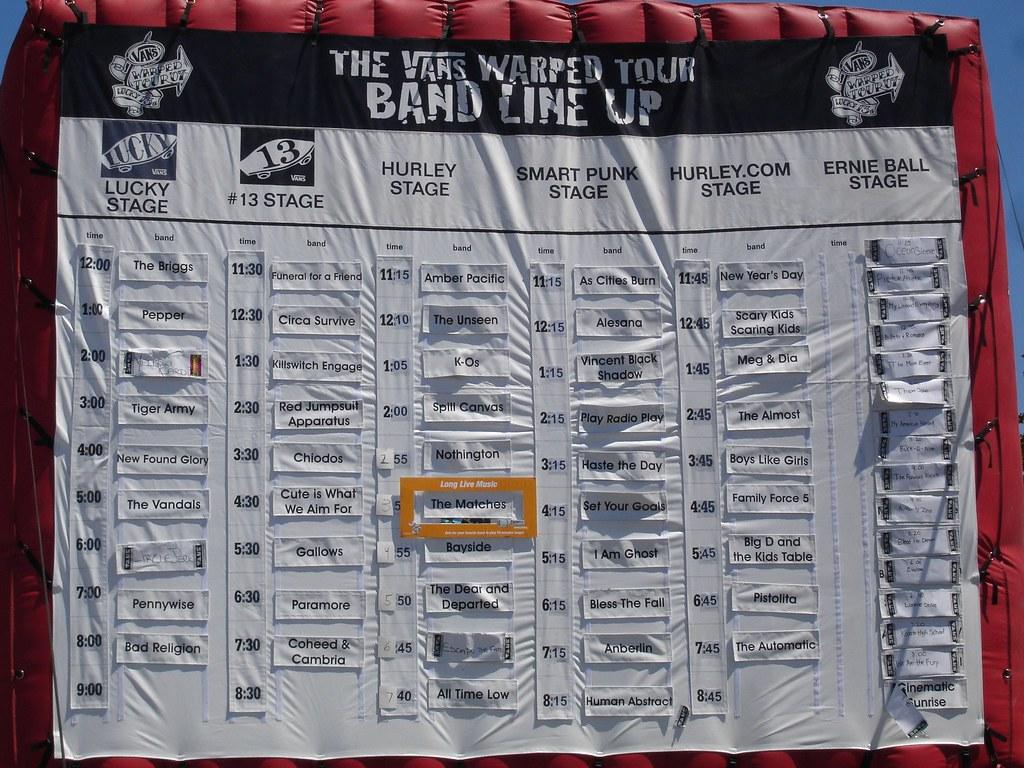 Warped Tour  Denver Schedule