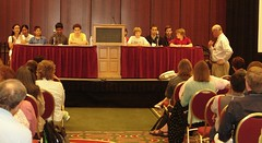 Evening teen panel moderated by Stephen Abram | by American Library Association Publishing