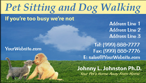 Pet sitting and dog walking color business card cat and do flickr pet sitting and dog walking color business card by weprintcolor colourmoves