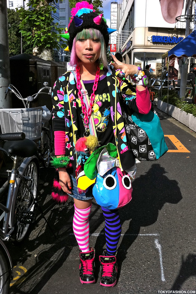 harajuku style hair green amp pink hair in harajuku this and 5854