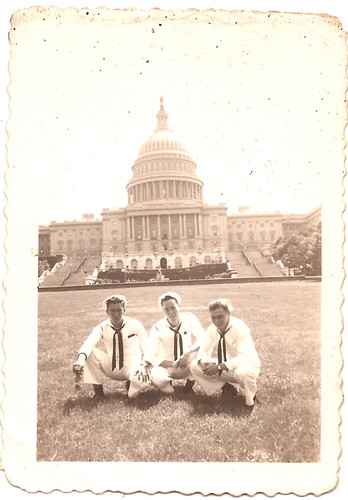 Mike Tierney & buddies, in Front of US Capitol Building, WWII
