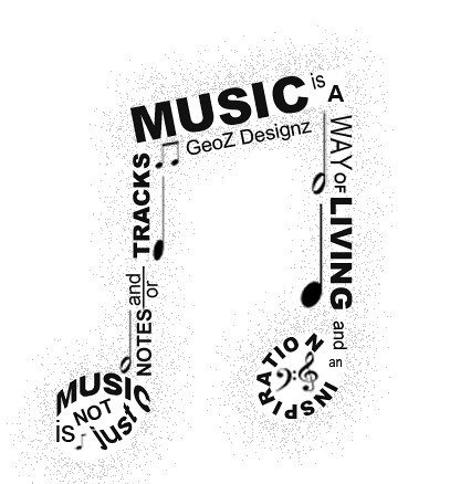 music typography a simple typography on a music note gee zee flickr