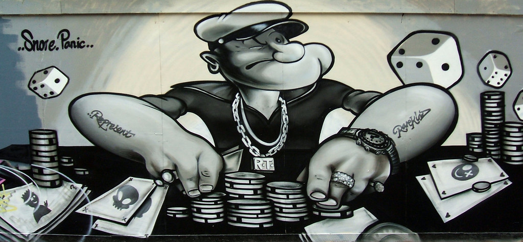 Popeye Graffiti Graffiti Art Featuring Popeye Gambling