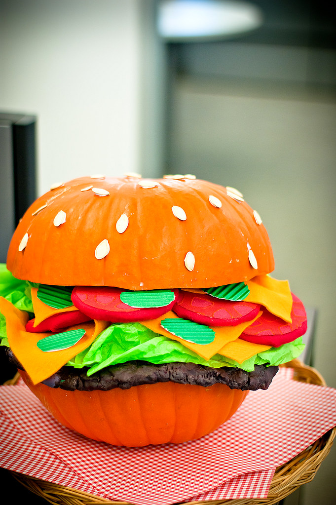Hamburger Pumpkin Quot Happy Halloween Quot 2010 Kirksey