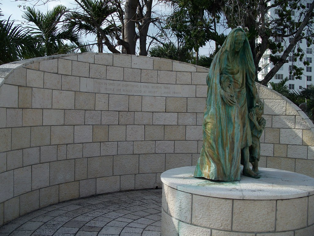 Holocaust Memorial Statue Of A Mother And Children On