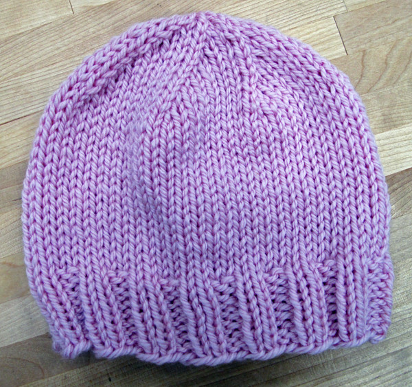 Double Knitting In The Round Hat : Knitting in the round baby hat project bobbin s nest