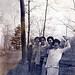 5 women waving on trail