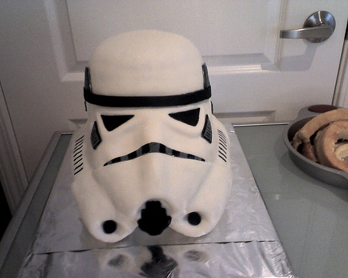 Stormtrooper Groom's Cake | by Crazy Cake Lady