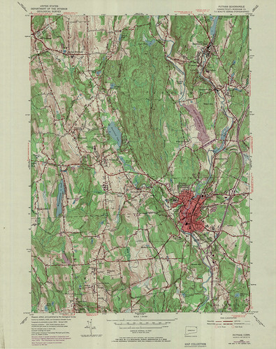 Putnam Quadrangle 1970 - USGS Topographic Map 1:24,000 | by uconnlibrariesmagic