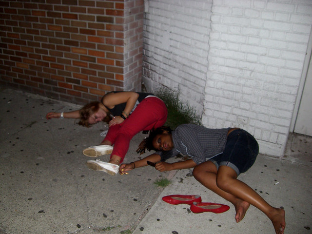 passed out girls funking