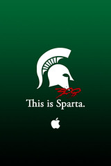 This is Sparta. (Michigan State 300 iPhone Wallpaper) | by MSU2K