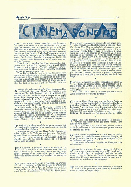 Cinéfilo, No. 73, January 11 1930 - 20