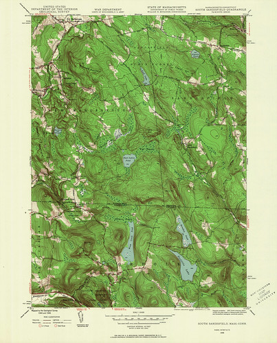 South Sandisfield Quadrangle 1946 - USGS Topographic Map 1:24,000 | by uconnlibrariesmagic