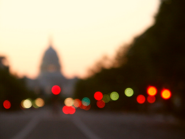 Capitol with Blurred Lights -- May try this one again Next ...  Capitol with Bl...