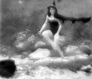 Underwater witch at Halloween: Rainbow Springs, Florida | by State Library and Archives of Florida
