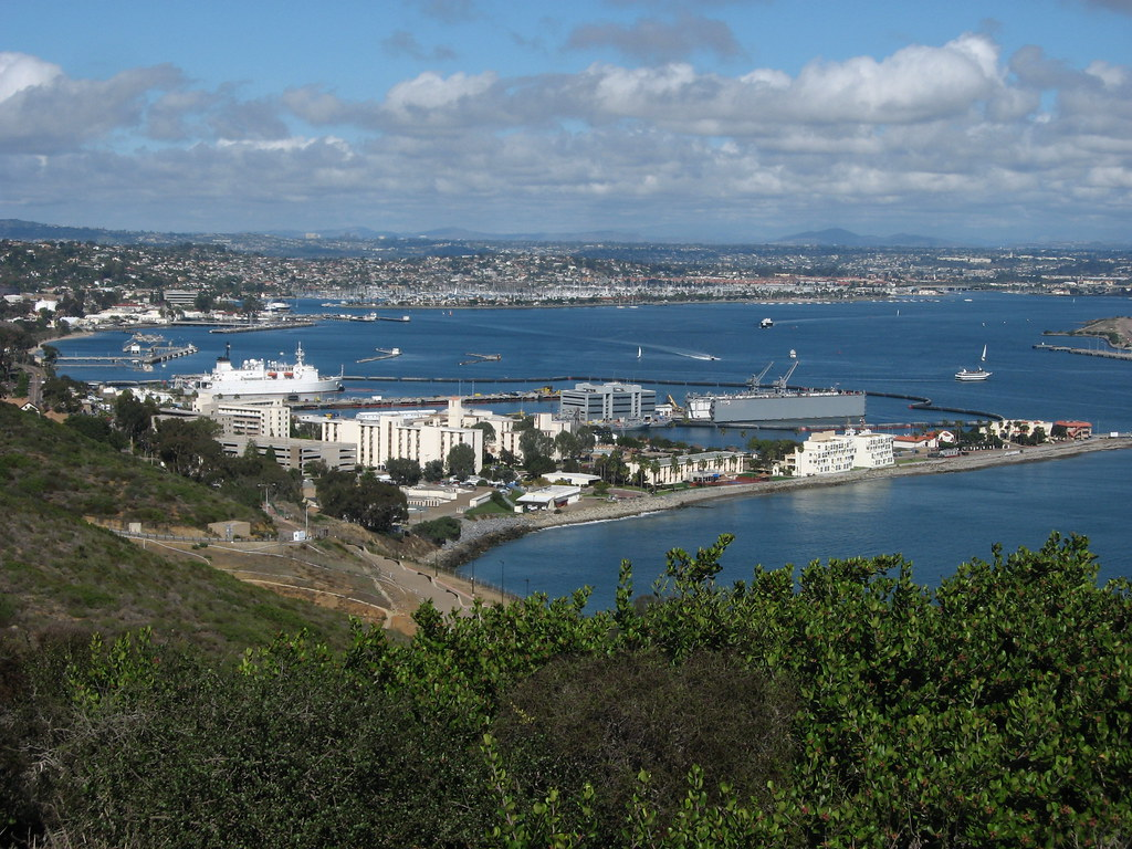 Ballast Point Naval Base Point Loma From Cabrillo Nationa