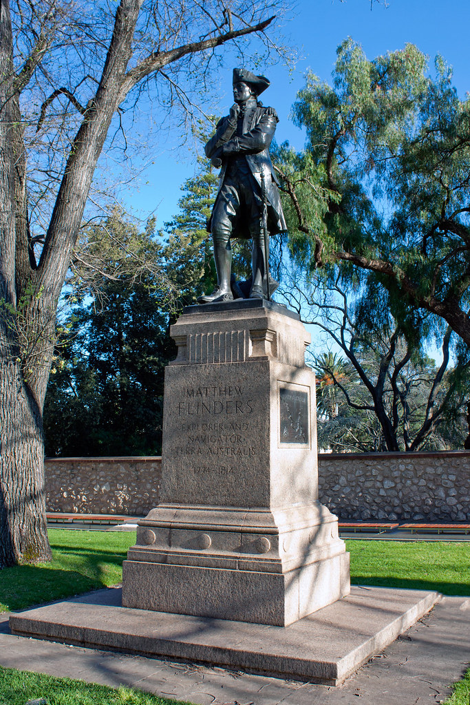 Matthew Flinders Statue North Terrace Adelaide South Au