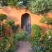Blue Door with Landscaping