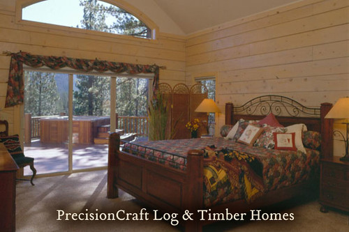 Custom Log Home located in California | by PrecisionCraft Log Homes | by PrecisionCraft Log & Timber Homes