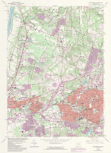 Manchester Quadrangle 1992 - USGS Topographic Map 1:24,000 | by uconnlibrariesmagic