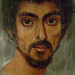 Mummy Portrait of a Man with a Mole on his Nose Egypt 130-150 CE Encaustic on limewood