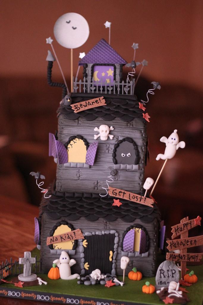 Halloween Tombstone Cake