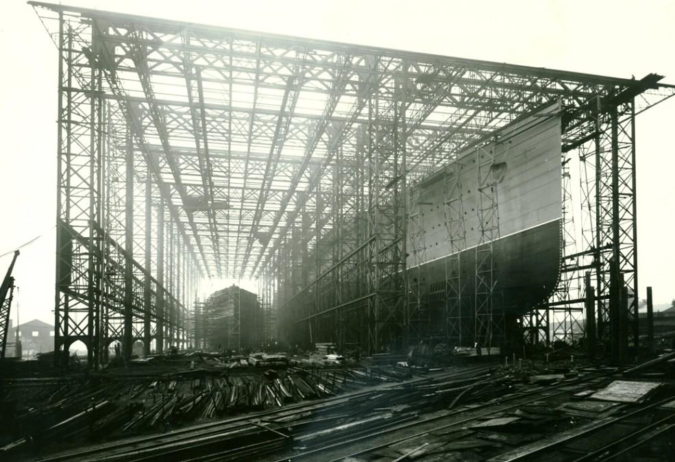 Mauretania Construction Photograph Of The Nearly