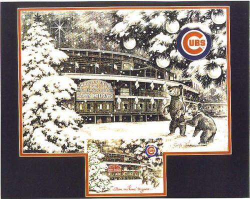 Chicago Cubs Christmas Card cover illlustation   pollardstud ...