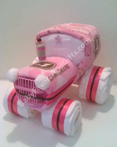 John Deere Diaper Tractor : Tractor diaper cake john deere