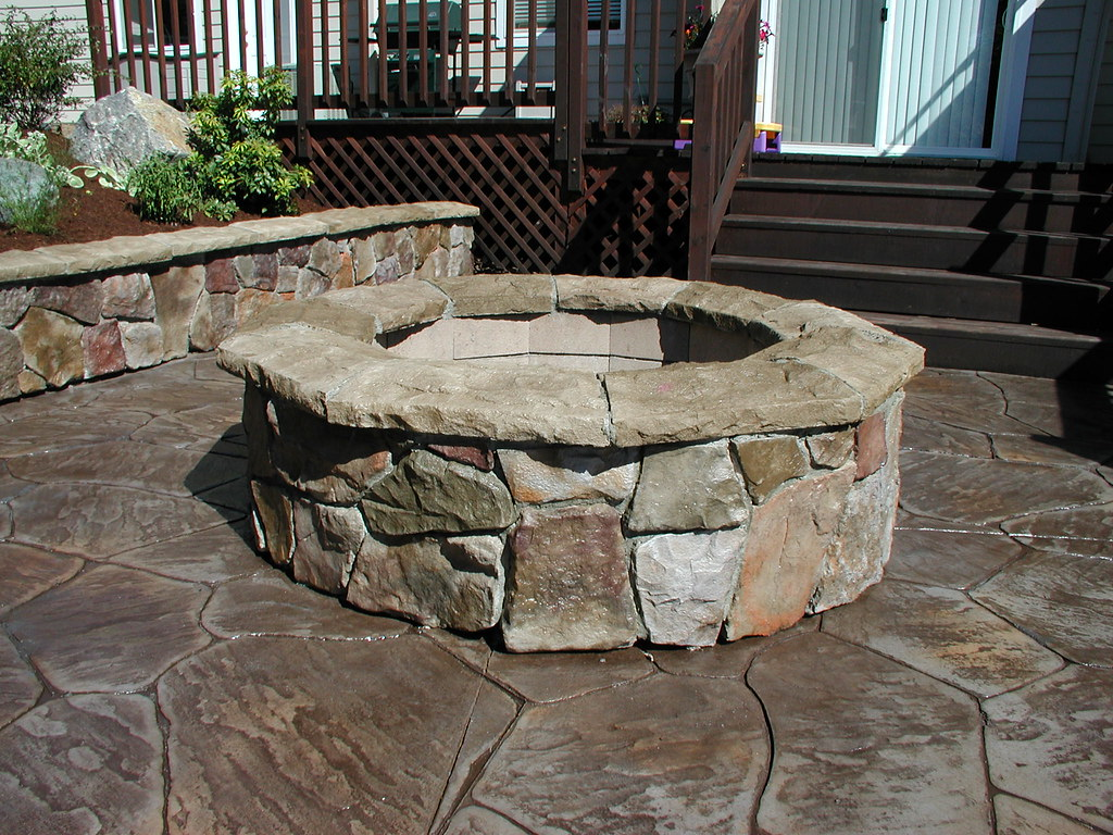 Cultured stone fire pit cultured stone is a foe rock made