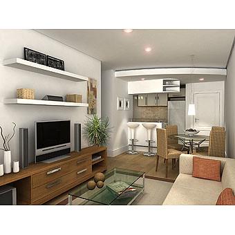 Construtora egl sala estar maquete eletr nica 3d para - Ideas para decorar un salon ...
