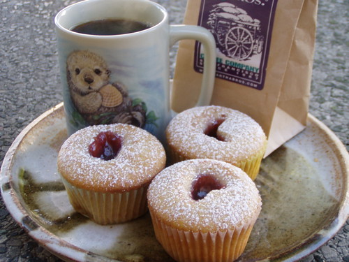 Vegan Jelly Donuts Cupcakes! And delicious Coffee! | Flickr