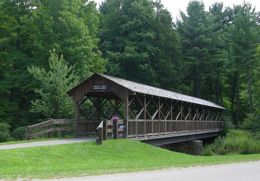Covered Bridge At Allegany State Park | On the trail ...