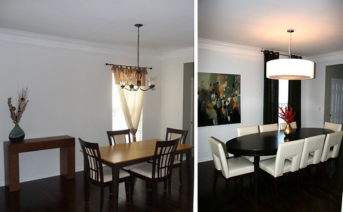 Before and after dining room in brentwood tennessee by for Dining near brentwood tn