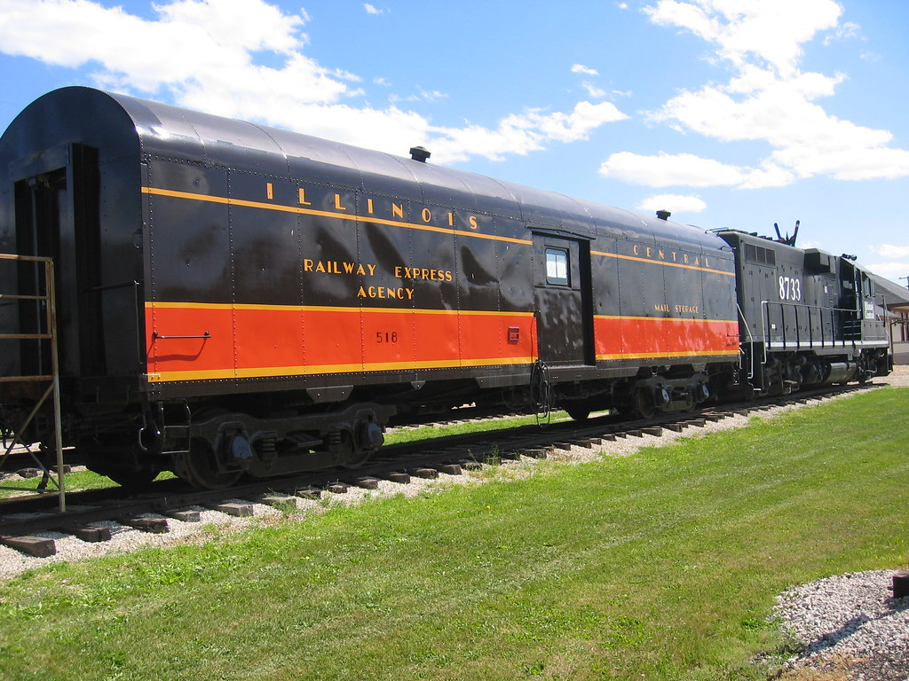 Illinois Central Baggage Car Delivered To The Ic By