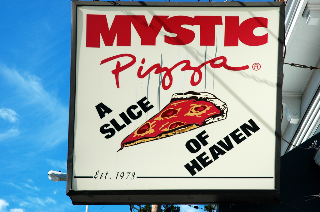 60d8c6dd568c7b The Mystic Pizza parlor featured in the film is a real pizza place located  in downtown Mystic.Shop A Slice of Heaven mystic pizza t-shirts designed by  ...