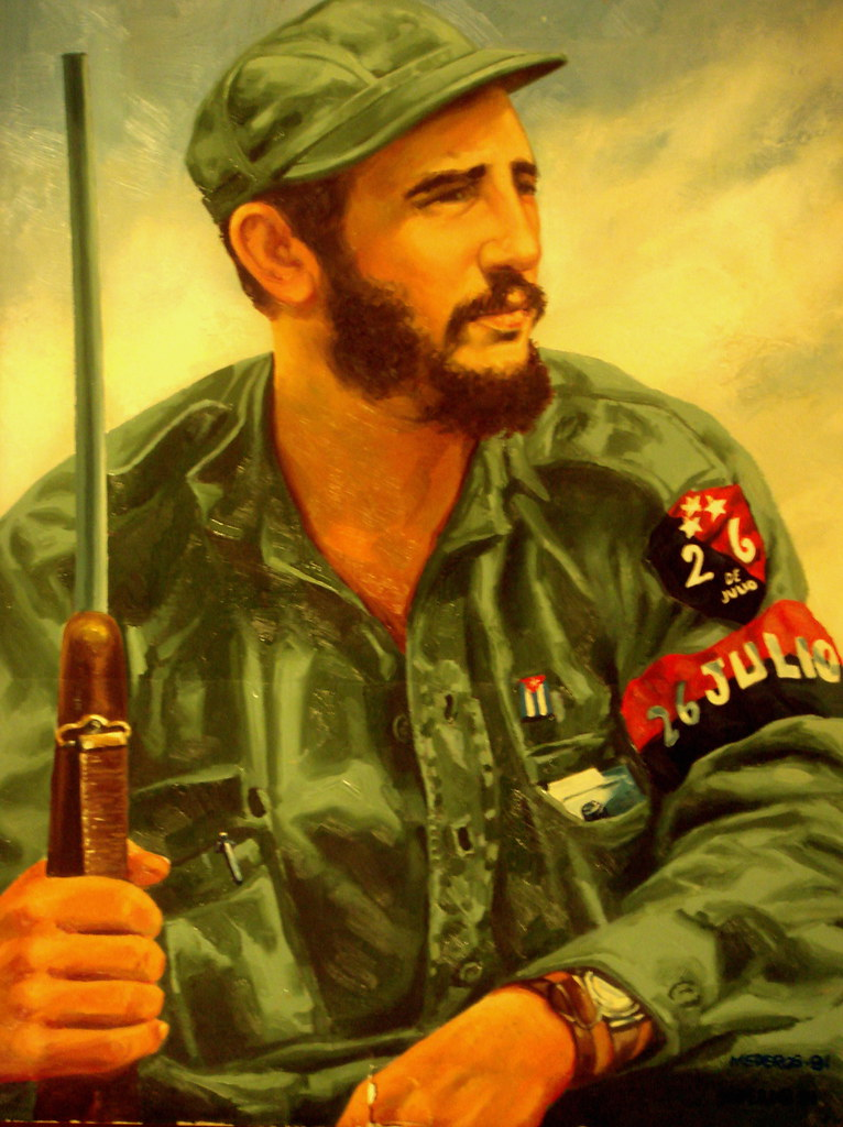 Rene Mederos Portrait Of Fidel Castro (Photo By Javier Her ...